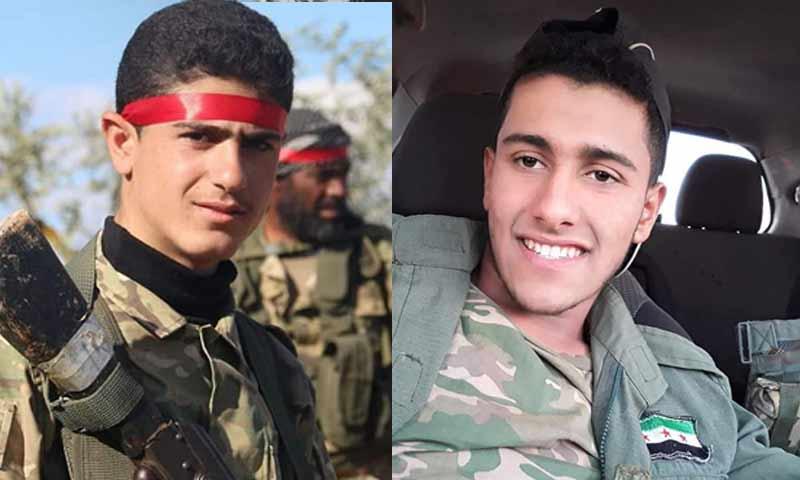 يامن عبدو حياني وإبراهيم شوبك من مدينة تل رفعت هما تابعين للجيش الوطني شمالي حلب 10 كانون الثاني 2019 (تل رفعت الآن)