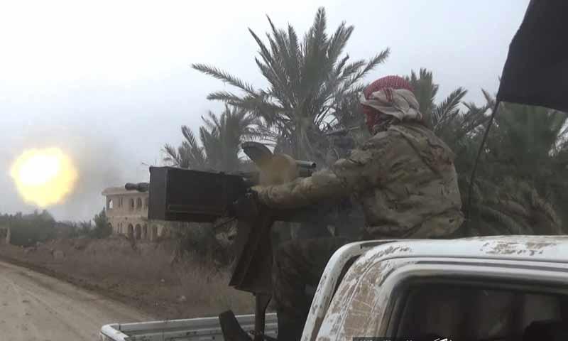 """اشتباكات بين تنظيم الدولة و""""قسد"""" في ريف دير الزور الشرقي كانون الأول 2018 (أعماق)"""