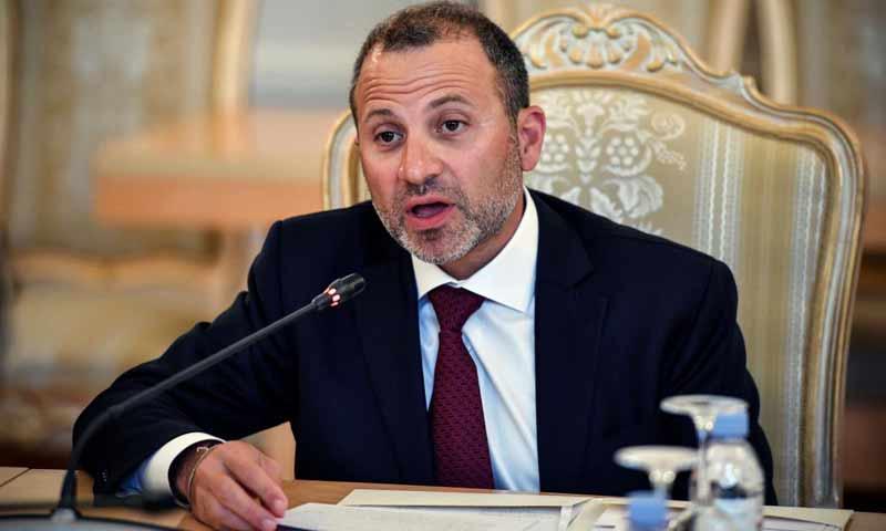 وزير الخارجية اللبناني جبران باسيل في مؤتمر صحفي 19 كانون الثاني 2019 (تويتر)