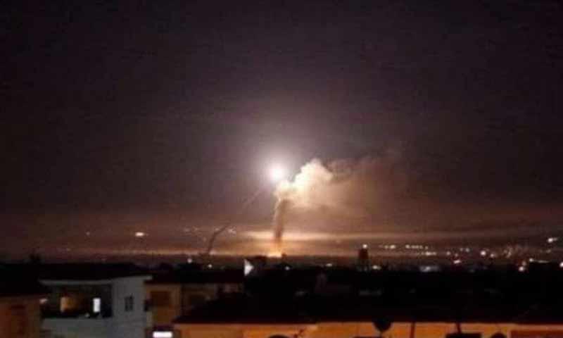 غارات اسرائيلية على محيط دمشق أثناء تصدي الدفاع الجوي السوري لها 21 كانون الثاني 2019 (وكالة سانا)