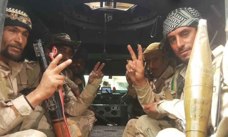 عناصر من قوات النخبة التابعة لتيار الغد السوري - (قوات النخبة)