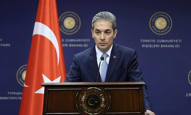 المتحدث باسم الخارجية التركية، حامي أقصوي (الأناضول)