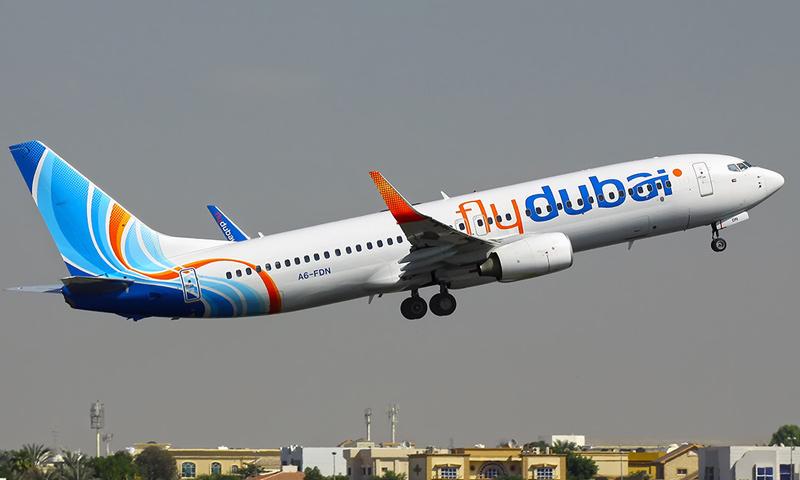 """طائرة تابعة لشركة """"فلاي دبي"""" (Fly Dubai)"""