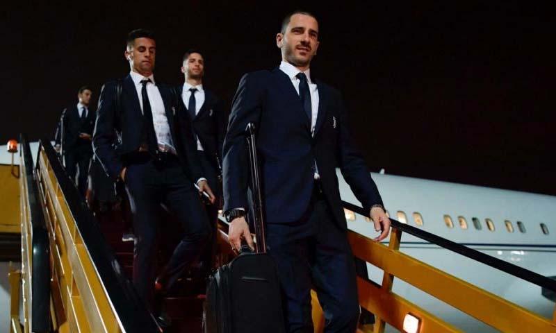 وصول بعثة نادي يوفنتوس الإيطالي إلى مدينة جدة السعودية- 14 من كانون الثاني (موقع نادي يوفنتوس الإيطالي)