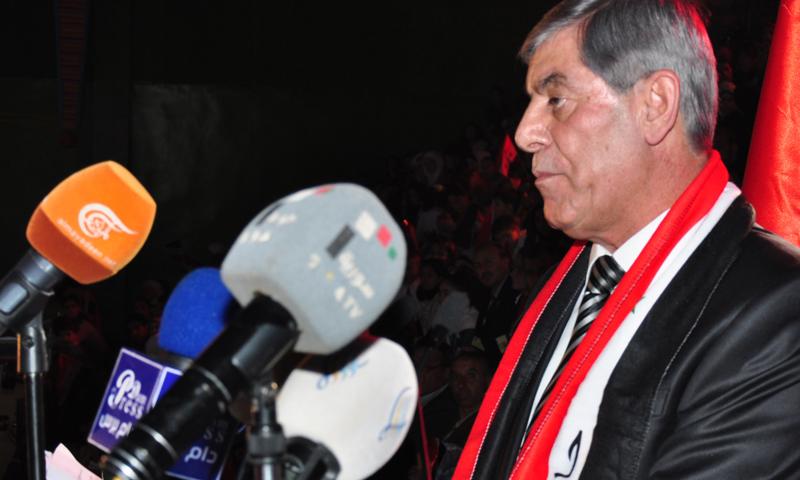 رئيس الاتحاد الرياضي العام، موفق جمعة (سانا)