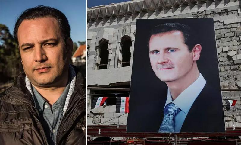منذ خروجه من المعتقل يعمل منصور العمري في مجال حقوق المعتقلين السوريين (رويترز)