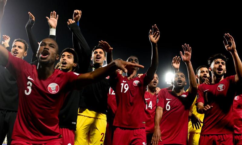 المنتخب القطري في المجموعة الثانية من بطولة كوبا أمريكا إلى جانب الأرجنتين (AFC)