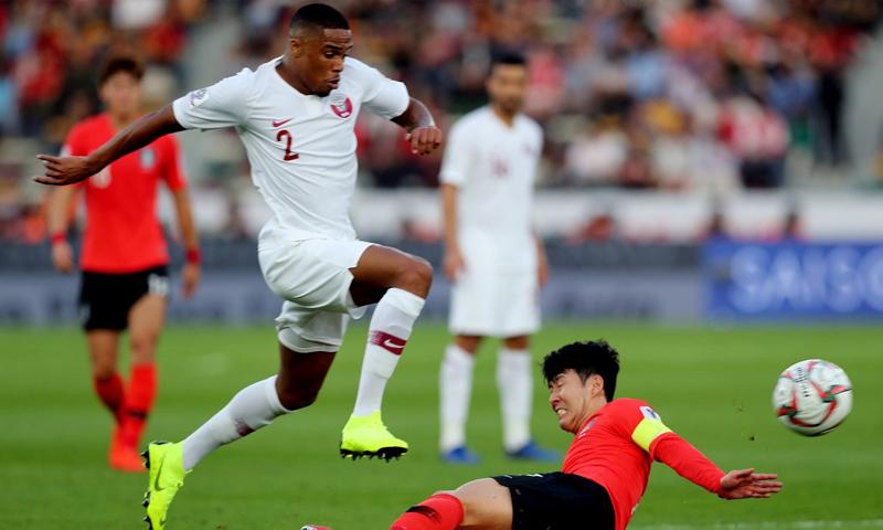 المنتخب القطري في ليلة الفوز على كوريا الجنوبية في دور ربع النهائي من كأس أمم آسيا (AFC)