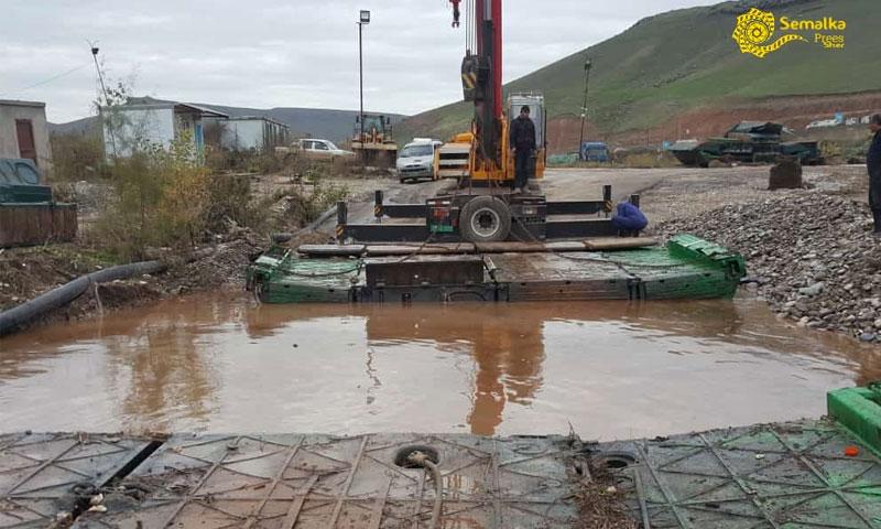 أعمال الصيانة في معبر سيمالكا الحدودي مع العراق - 13 كانون الأول 2018 (صفحة المعبر الرسمية في فيس بوك)