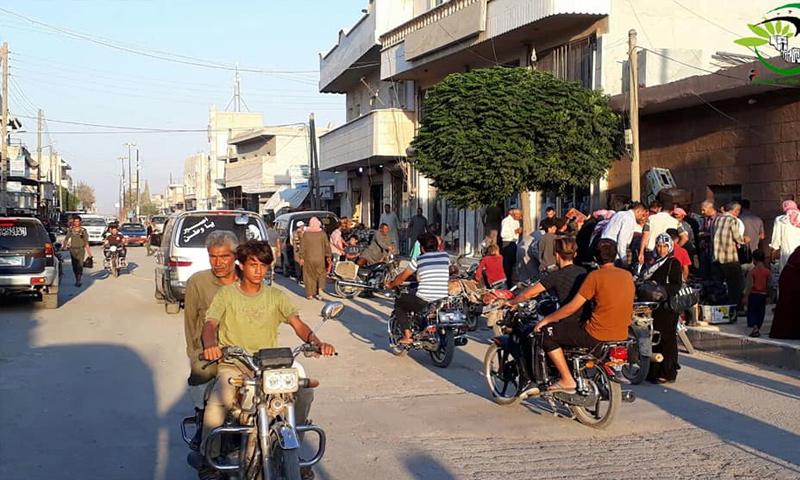 مواطنون في مدينة صوران بريف حلب الشمالي- 20 آب 2018 (المجلس المحلي)