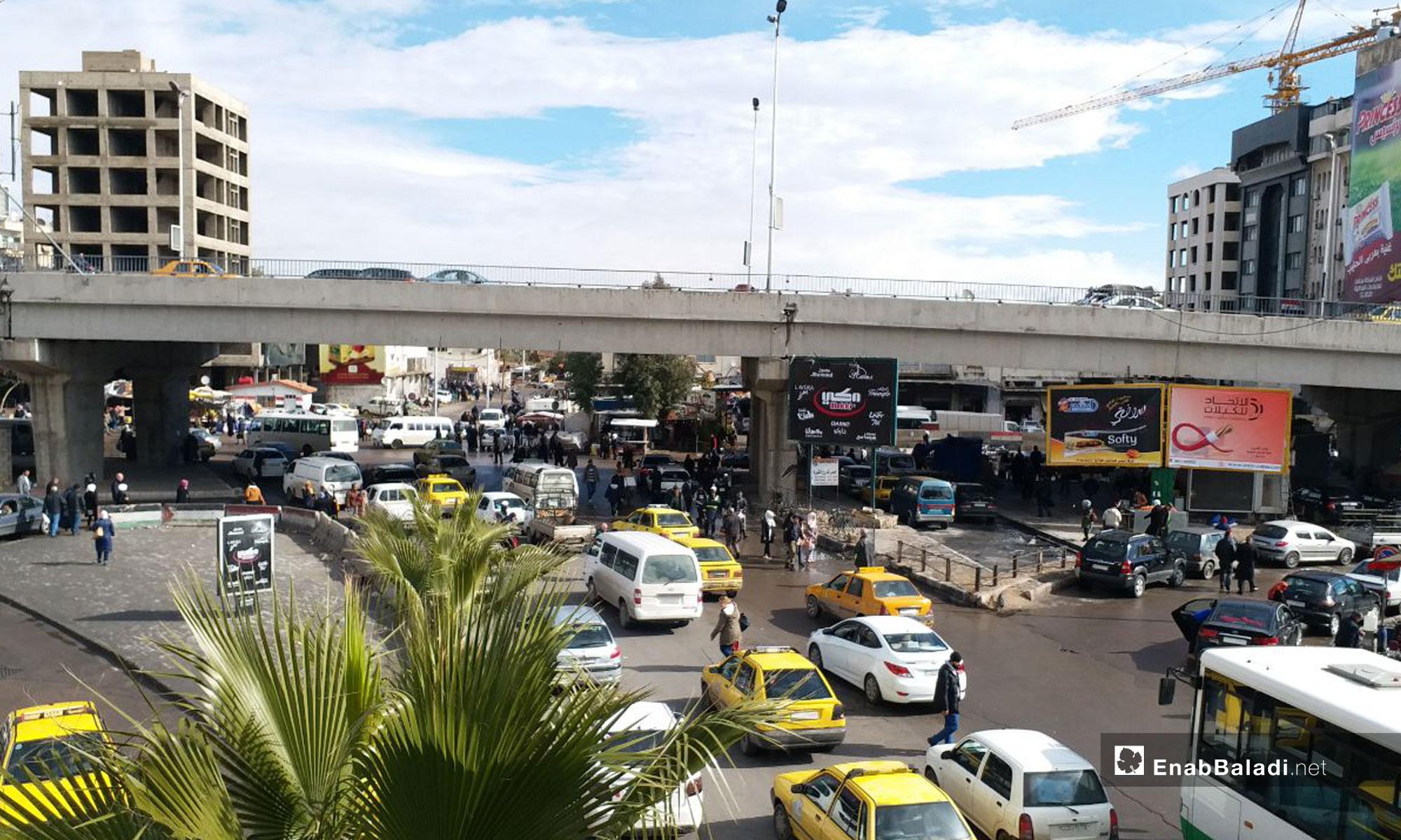 جسر فكتوريا وسط العاصمة دمشق - 14 من كانون الثاني 2019 (عنب بلدي)