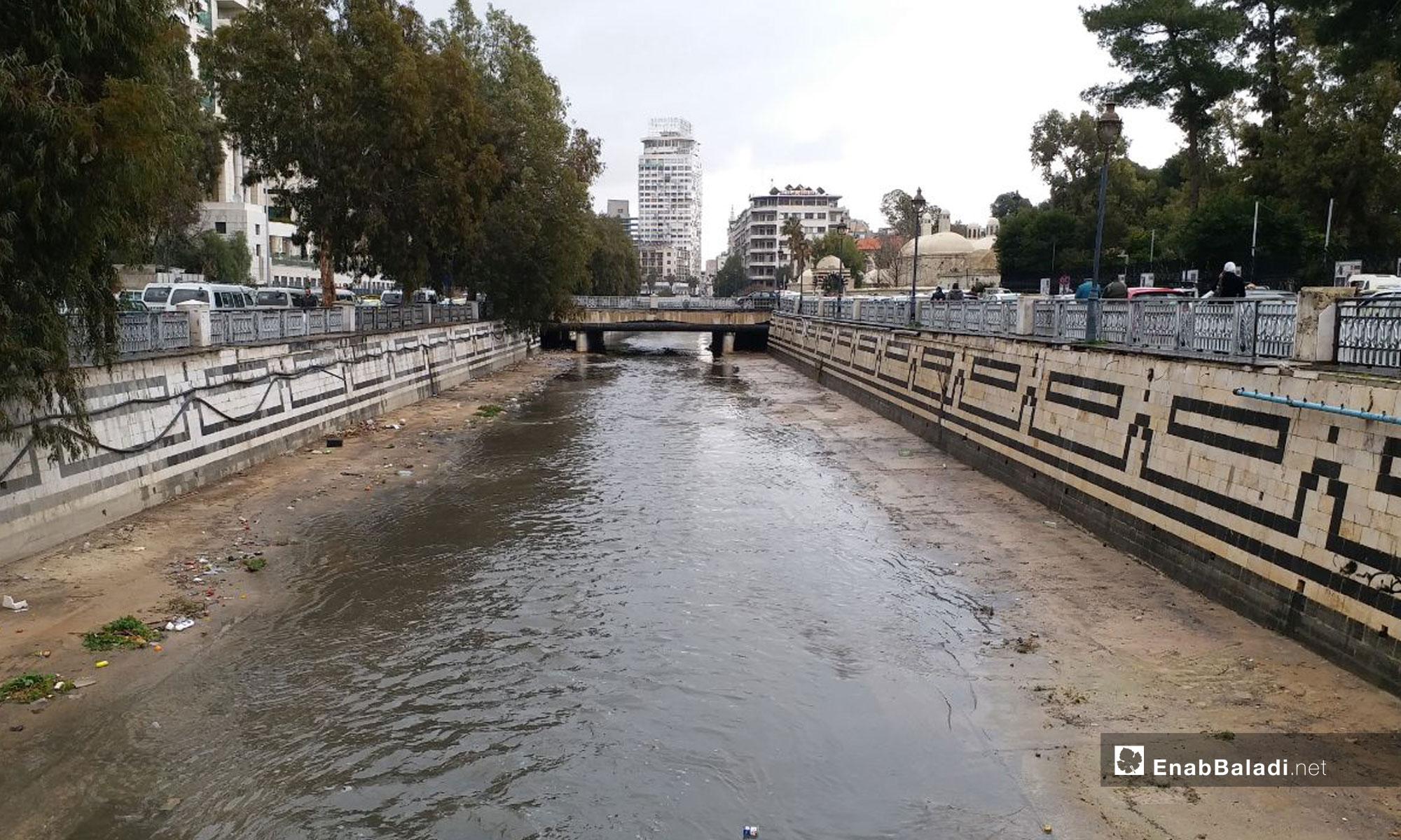 جسر الرئيس في دمشق - 14 من كانون الثاني 2019 (عنب بلدي)