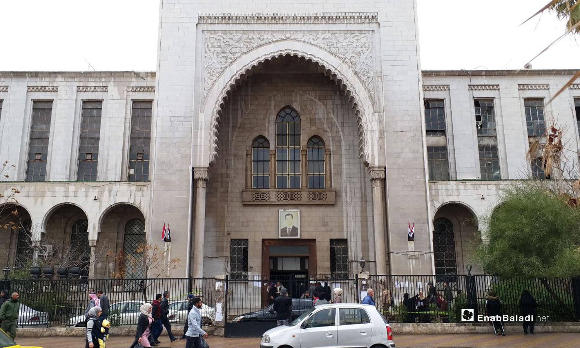 من أمام مبني القصر العدلي في دمشق - 14 من كانون الثاني 2019 (عنب بلدي)