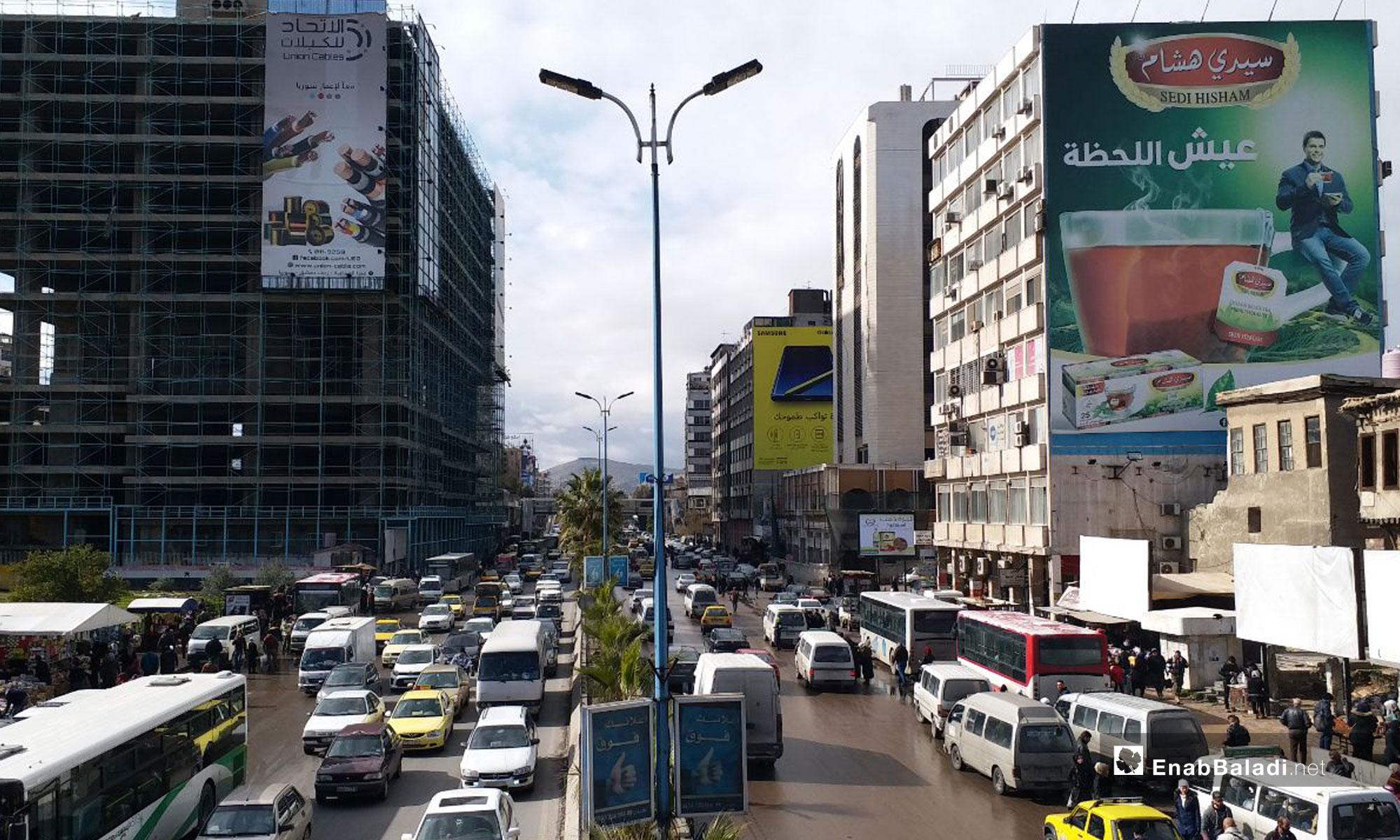 شارع الثورة وسط العاصمة دمشق - 14 من كانون الثاني 2019 (عنب بلدي)