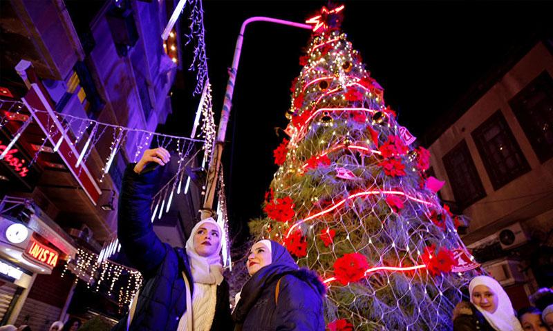 احتفالات رأس السنة في دمشق (فيس بوك)