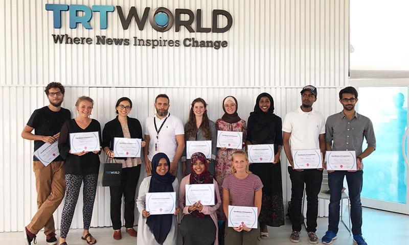 خريجي الزمالة 2017 (TRT World Academy)