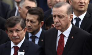 الرئيس التركي رجب طيب أردوغان ووزير الخارجية السابق أحمد داوود أوغلو (New Eastern Outlook)