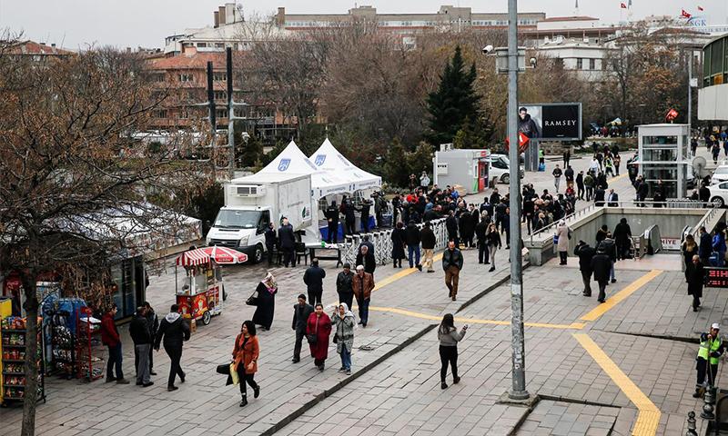 نقطة بيع خضار جديد في أنقرة (ensonhaber)