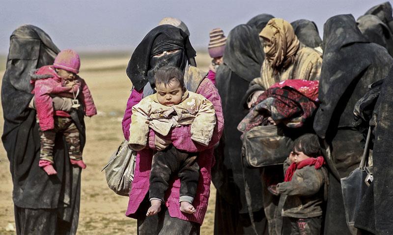 عائلات في مخيم الهول سوريا - 26 كانون الثاني 2019 (اليونسيف)