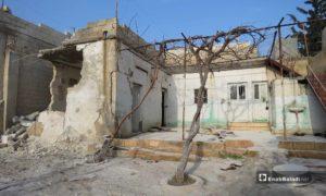 آثار الدمار في بلدة كفر نبودة بريف حماة - 26 من شباط 2019 (عنب بلدي)