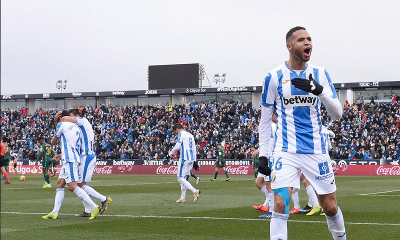 مهاجم نادي ليغانيس يحقق ثلاثية لناديه لأول مرة في تاريخه بالدوري الإسباني (ليغانيس تويتر)