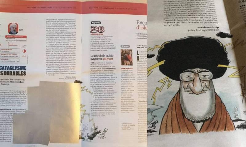 رسم كاريكاتير في صحيفة فرنسية أزاله الأمن العام اللبناني (تعديل عنب بلدي)