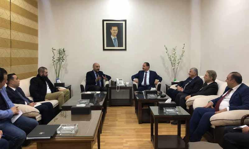 وفد أردني يلتقي وزير النقل السوري علي حمود- 10 من شباط 2019 (وزارة النقل في فيس بوك)