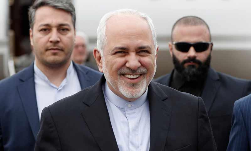 وزير الخارجية الإيراني محمد جواد ظريف في العاصمة بيروت 10 شباط 2019 (الوكالة اللبنانية)