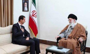 لقاء بشار الأسد بالمرشد الأعلى الايراني على خامنئي خلال زيارة في العاصمة طهران 25 شباط 2019 (الموقع الرسمي لخامنئي)
