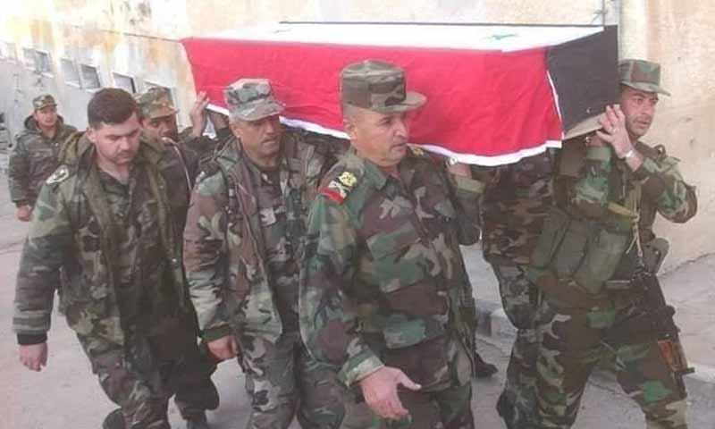 تشييع قتلى لقوات الأسد من صفوف الفرقة السابعة عشر في ريف دير الزور 26 شباط 2019 (الحرس الجمهوري)