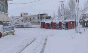الثلوج في قرية حوش عرب بالقلمون الغربي بريف دمشق 28 شباط 2019 (دمشق الآن)