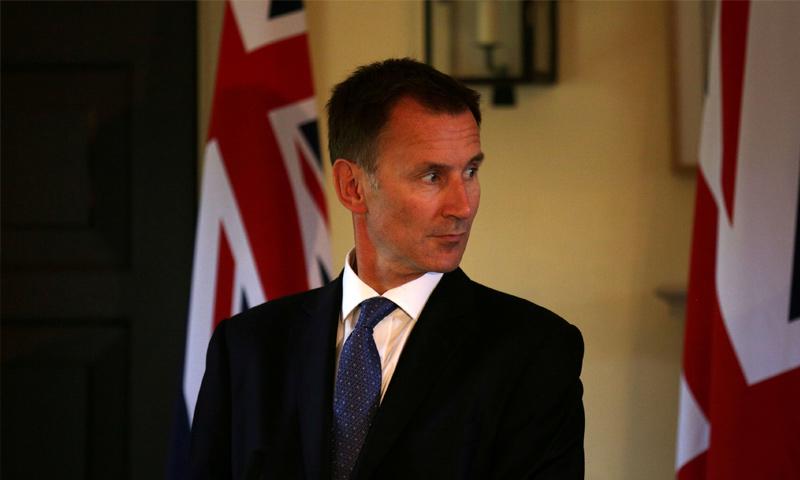 وزير الخارجية البريطاني جيريمي هانت - (رويترز)