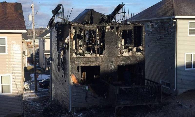 حريق نشب في منزل عائلة سورية في كندا وأدى إلى وفاة سبعة أطفال- 19 شباط 2019 (رويترز)
