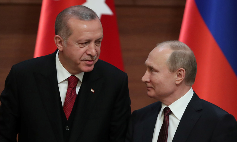 فلاديمير بوتين مع رجب طيب أردوغان - 4 من أيلول 2018 (رويترز)