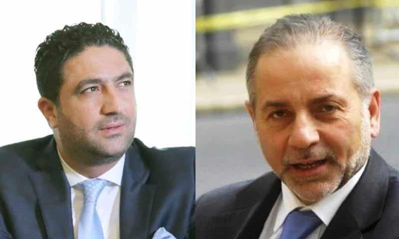 وزير النازحين السوريين السابق معين المرعبي، والجديد صالح الغريب (تعديل عنب بلدي)