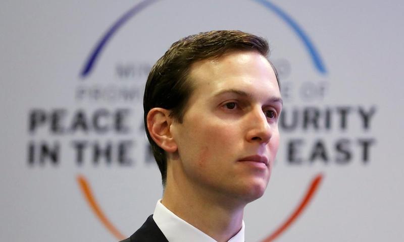مستشار البيت الأبيض الأمريكي جاريد كوشنر في وارسو- 14 من شباط 2019 (رويترز)