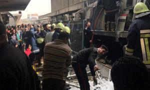 حادثة القطار في محطة رمسيس القاهرة - 27 شباط 2019 (رويترز)