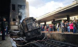 حريق محطة قطارات رمسيس القاهرة - 27 شباط 2019 (وكالة سوا الإخبارية)
