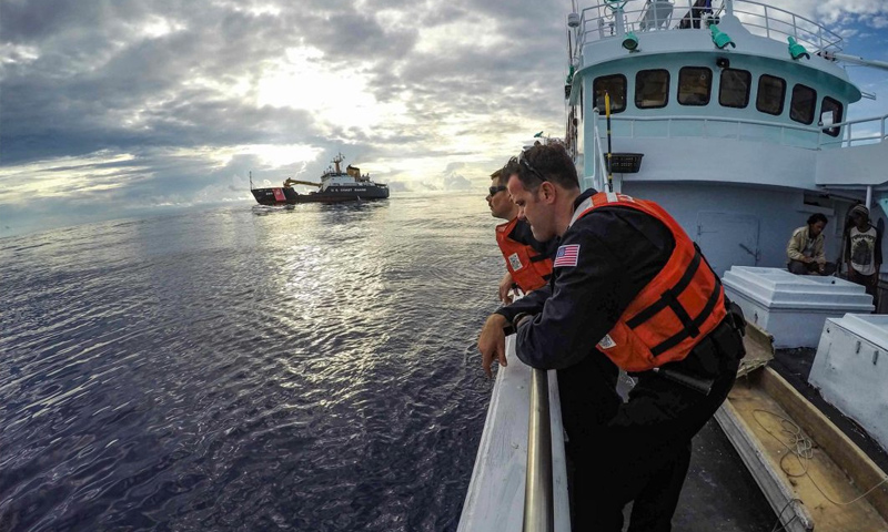سفن أمريكية في مياه جزر مارشال - (انترنت)