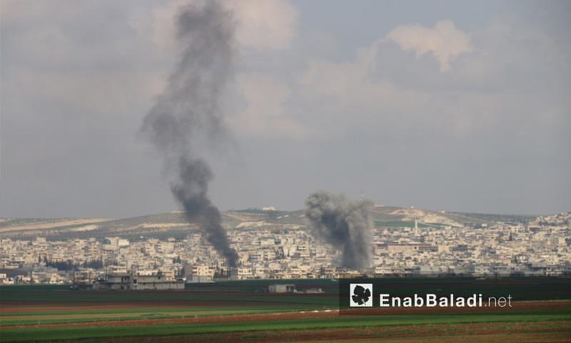 قصف صاروخي على مدينة خان شيخون بريف إدلب الجنوبي- 24 من شباط 2019 (عنب بلدي)