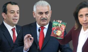 مرشحو الاحزاب السياسية التركية، بن علي يلدرم عن حزب العدالة والتنمية، إلاي أكسوي عن الحزب الصالح، تانجو اوزجان عن حزب الشعب الجمهوري (عنب بلدي)