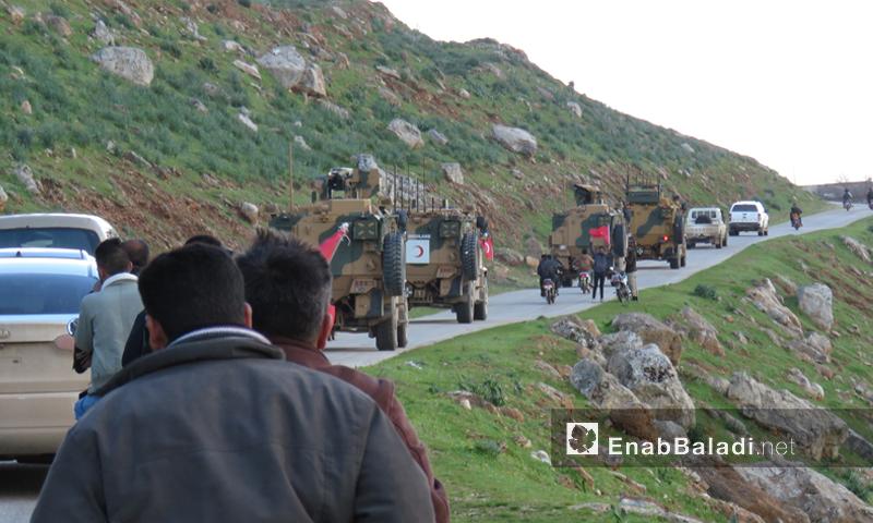 دورية تركية تدخل إلى المنطقة منزوعة السلاح في ريف حماة- 17 من آذار 2019 (عنب بلدي)