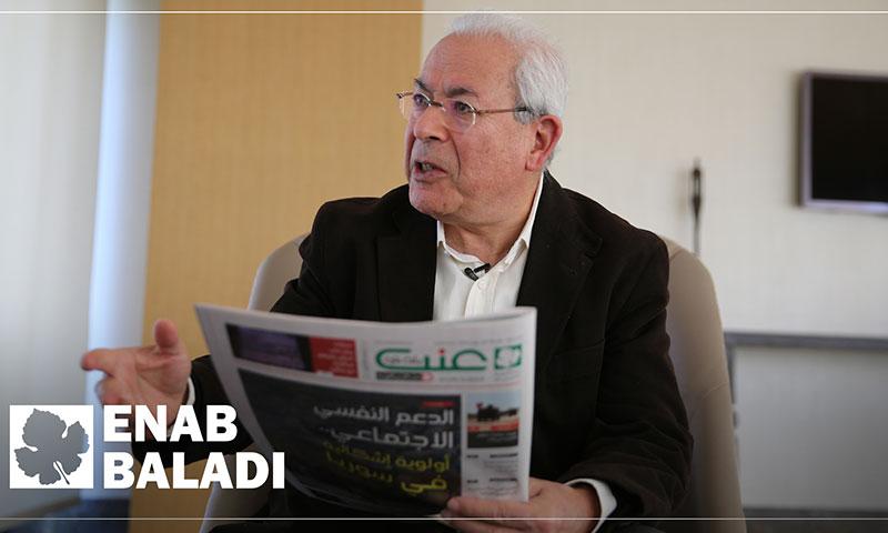 المفكر السوري برهان غليون في لقاء مع عنب بلدي - 17 آذار 2019 (عنب بلدي)