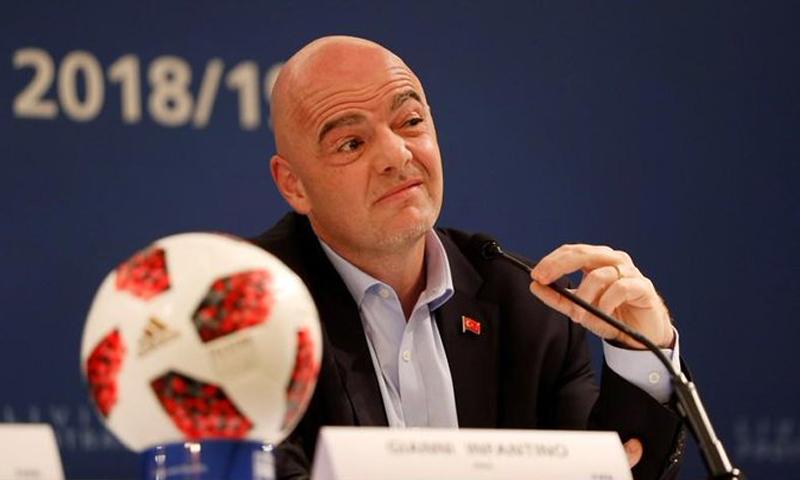 رئيس الاتحاد الدولي لكرة القدم، جيانو إنفانتينو (رويترز)