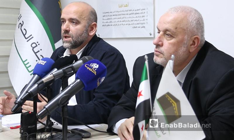 مدير لجنة الحج السورية سامر بيرقدار في مؤتمر صحفي- 5 من آذار (عنب بلدي)