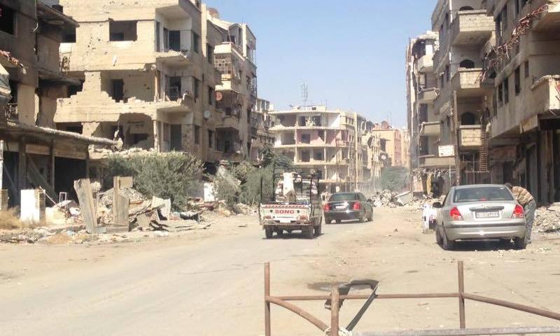 مدينة المليحة في ريف دمشق 14 تموز 2018 (دمشق الآن)