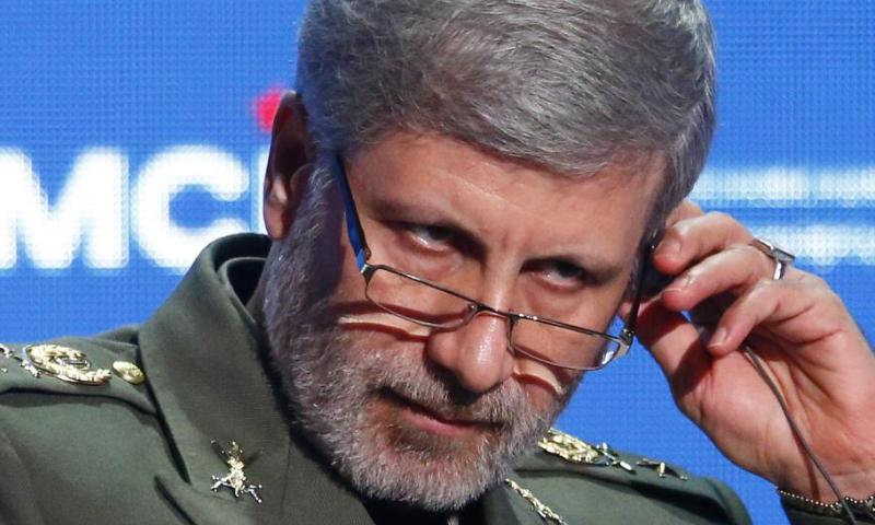 وزير الدفاع الإيراني أمير حاتمي-نيسان 2018 (رويترز)