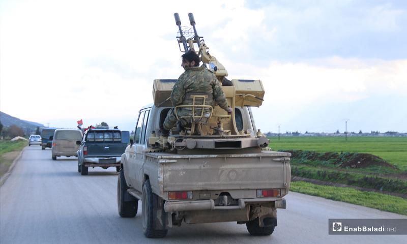 دورية تركية تدخل إلى المنطقة منزوعة السلاح في ريف حماة- 18 من آذار 2019 (عنب بلدي)