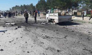 تفجير سيارة مفخخة شرقي مدينة منبج بريف حلب 9 آذار 2019 (المجلس العسكري لمدينة منبج)
