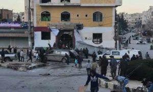 تفجير داخل مطعم فيوجن في حي الضبيط بمدينة إدلب 1 آذار 2019 (إدلب فيس بوك)